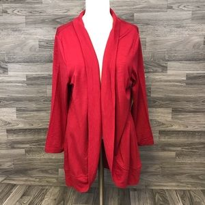New Coldwater Creek Red Cardigan
